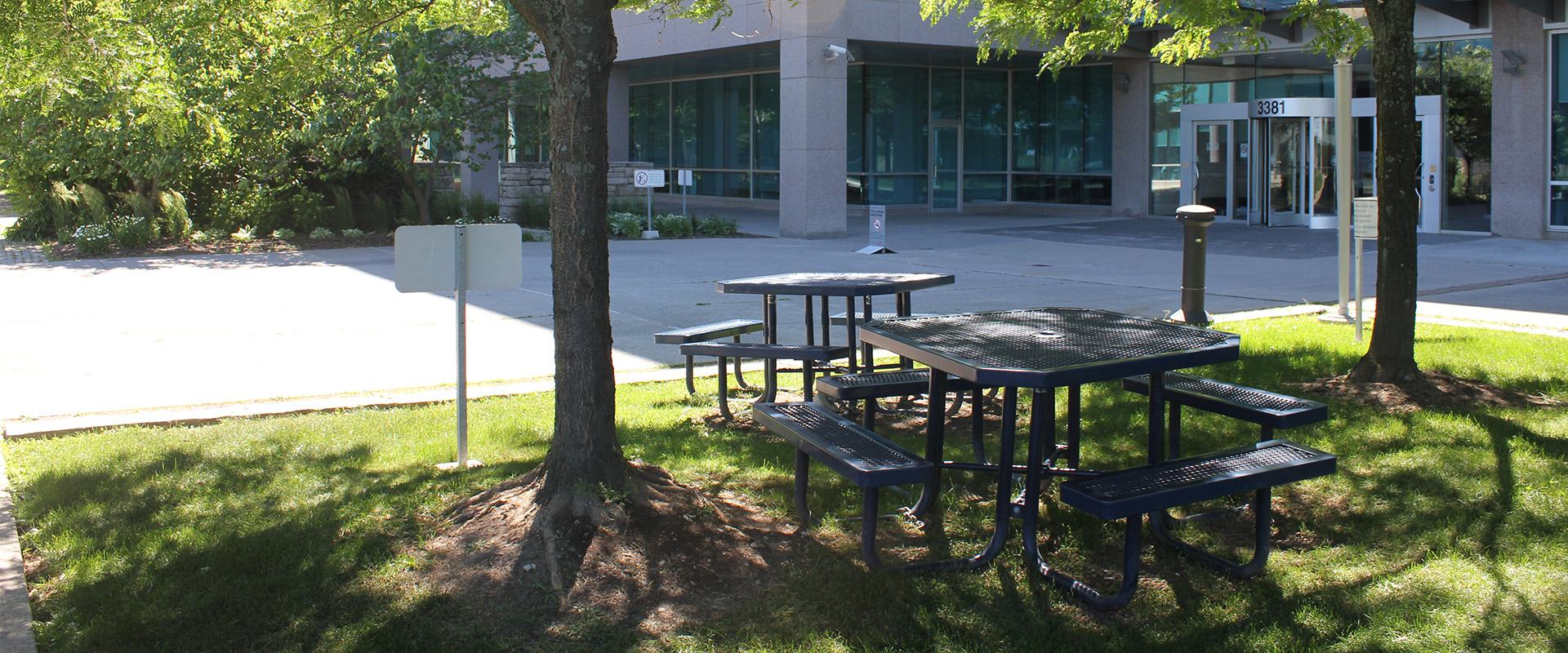 green space at steelestech office complex